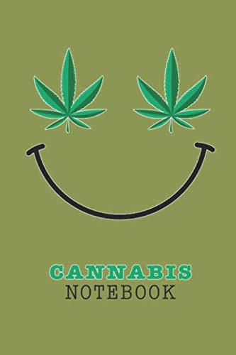 [画像:Cannabis Notebook: Marijuana Leaves Smile Wide Lined Journal for Higher State Of Mind Fun Happy People - Write Creative Ideas Taking Notes Brainstorm Mind Map Weed Consumption]