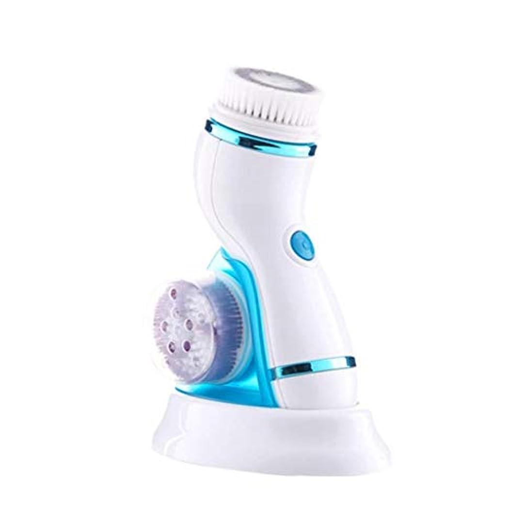 全く軽製作1つの清潔になる器械、深く清潔になる顔のマッサージャー、再充電可能なUSBケーブル、防水多機能の美の器械に付き4つをきれいにして下さい