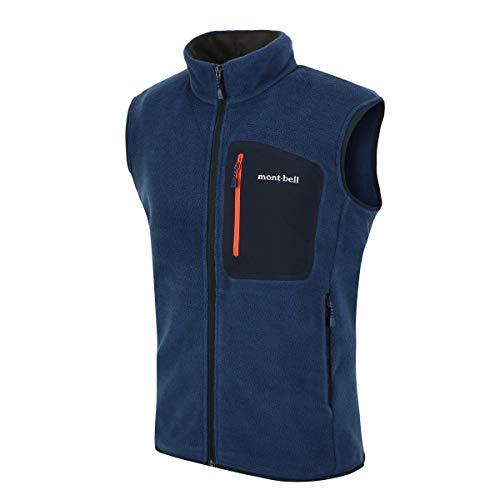 [モンベル] Mont-bell Men`s CP100 Zip Vest jacket ジャケット (KHAKI/Navy/Cool Blue) [並行輸入品](Navy, 95(M))