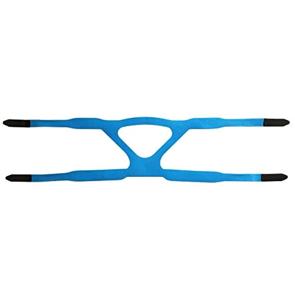 無限大急速な換気するユニバーサルヘッドギアコンフォートジェルフルマスク安全な環境置換CPAPヘッドバンドマスクなしPHILPSに適しています(色:青&グレー)