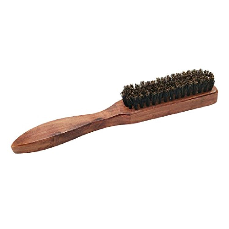 ラボ恥利用可能男性ナチュラルしっかり剛毛ブラシひげ口ひげスタイリンググルーミングシェービング木製ハンドルくしすべてのひげバーム&オイル - #2