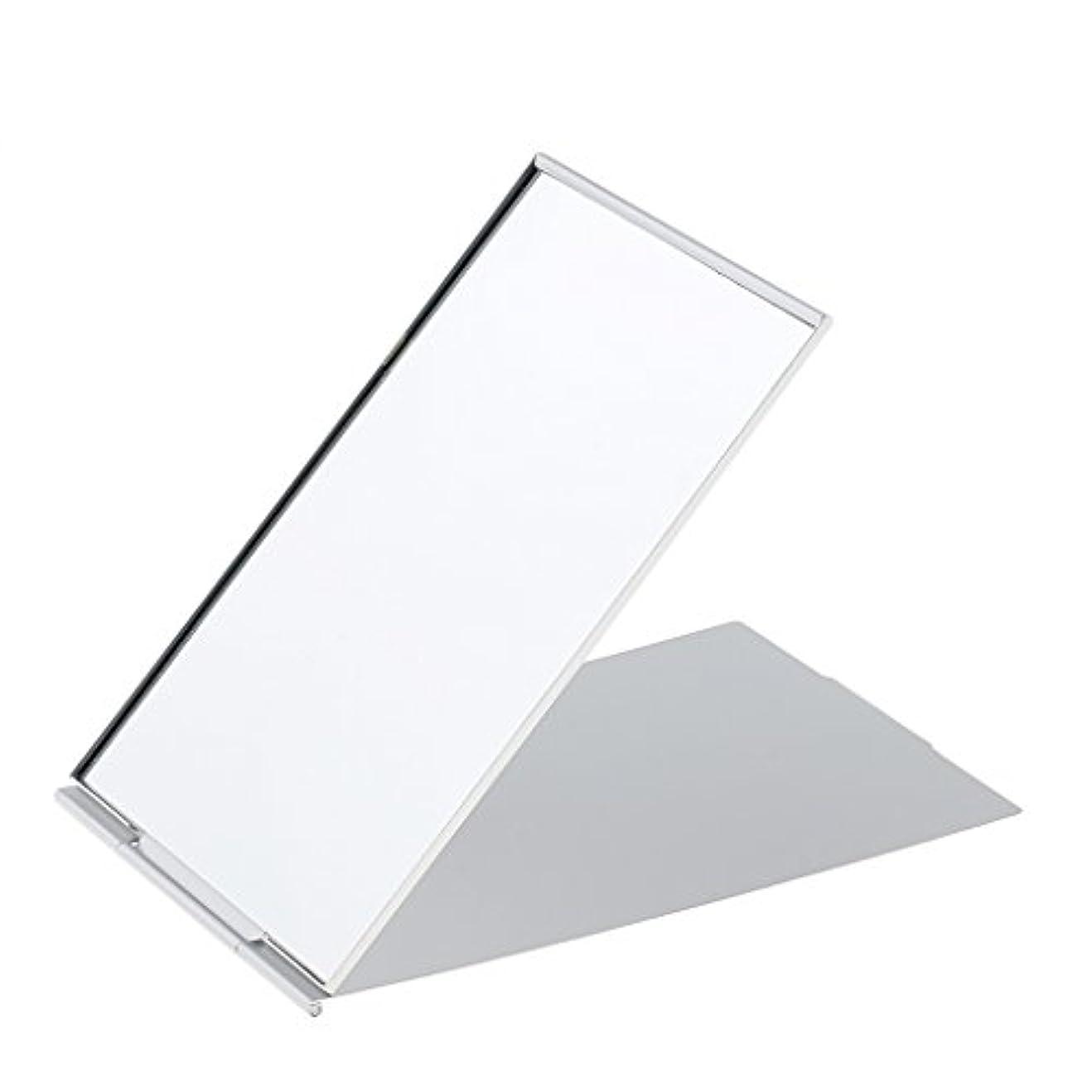 議論するカウントアップ幸運ミニ旅行ポータブル折り畳み式ハンドバッグポケットコンパクト化粧鏡シルバー - #2