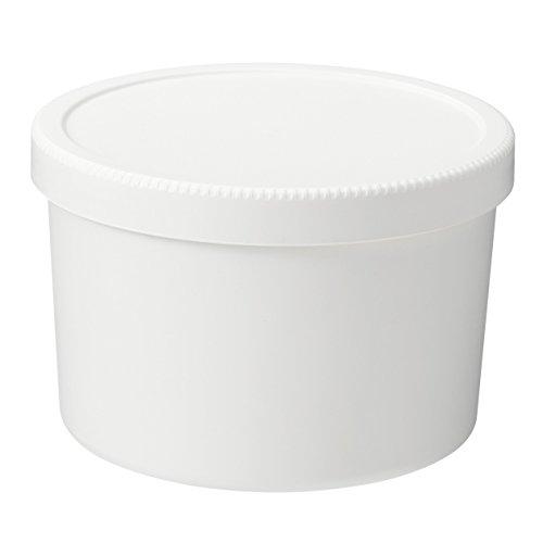 無印良品 ポリプロピレンスクリューキャップ丸型弁当箱・白 約460ml/約直...