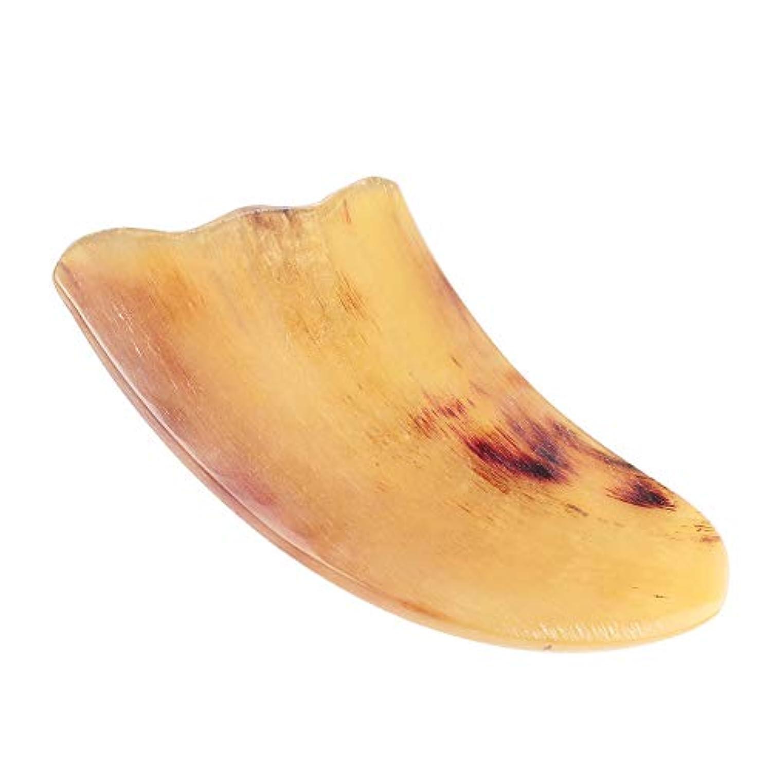 ヒゲクジラピット評価可能MUOBOFU 天然羊角製 カッサ?マッサージ?美容器 三角形?多用スクレーパー