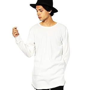 (エイト) 8(eight)ロング丈 長袖Tシャツ ワッフル生地 サーマル カットソー ストリート ホワイト M on423--11--M
