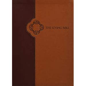The Living Bible: Paraphrased, Brown / Tan, TuTone, Leatherlike