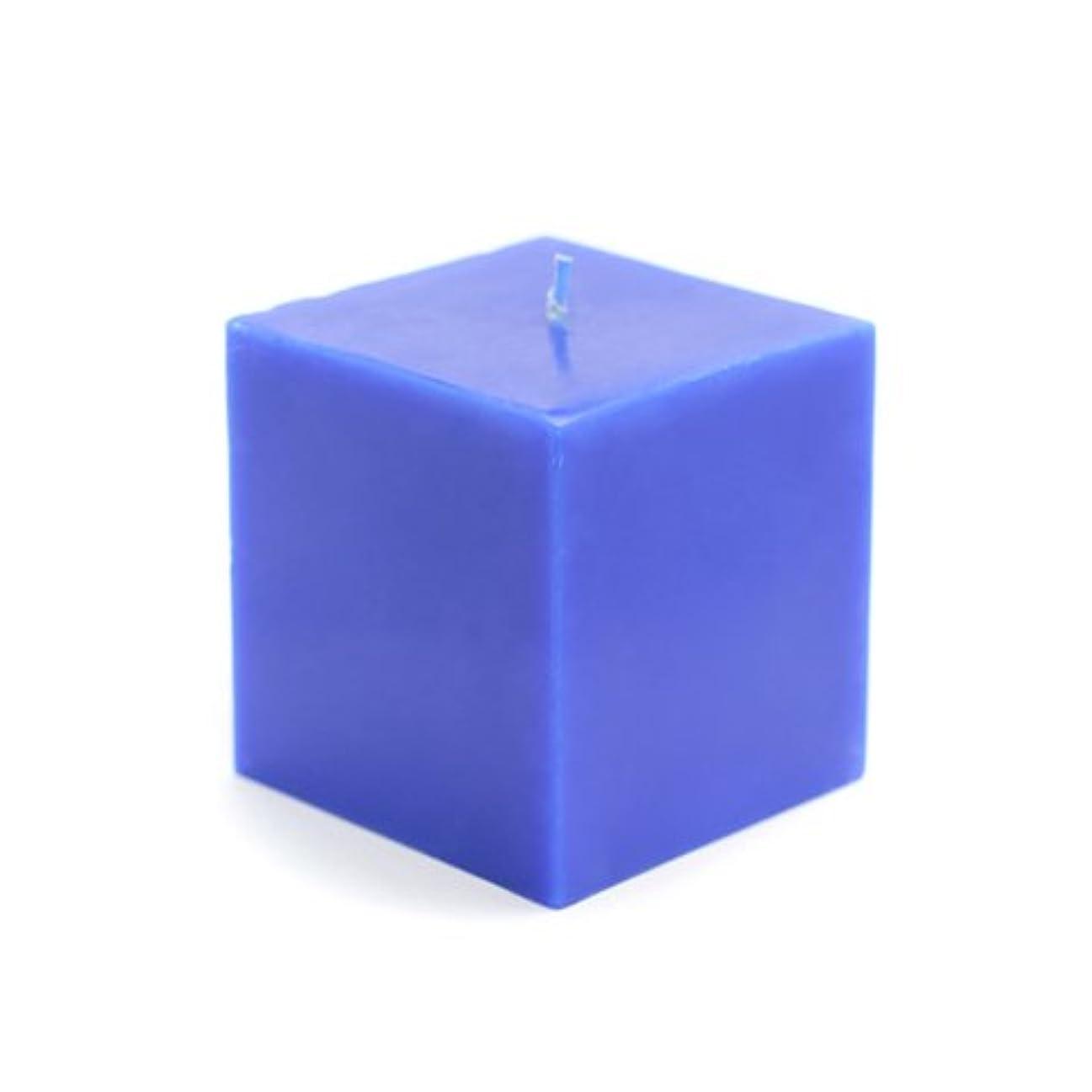 出発印象的セールスマンZest Candle CPZ-134-12 3 x 3 in. Blue Square Pillar Candles -12pcs-Case- Bulk