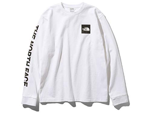 [ノースフェイス] レディース Tシャツ ロングスリーブスクエアロゴスリーブティー L/S Square Logo Sleeve Tee ホワイト NTW81931 W XL
