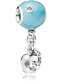 [パンドラ] PANDORA Elephant & Blue Balloon チャーム (シルバー キュービックジルコニア) 正規輸入品 797239EN169