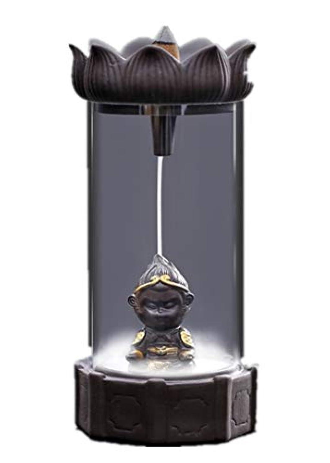 省スケート可動式XPPXPP Backflow Incense Burner, Household Ceramic Returning Cone-shaped Candlestick Burner