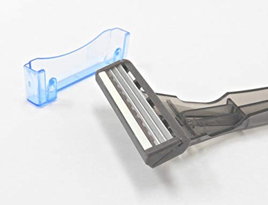 マージ光の感嘆符ダイト 業務用カミソリ ファルコン(【3枚刃】首振りスムーサー付) 100本入り