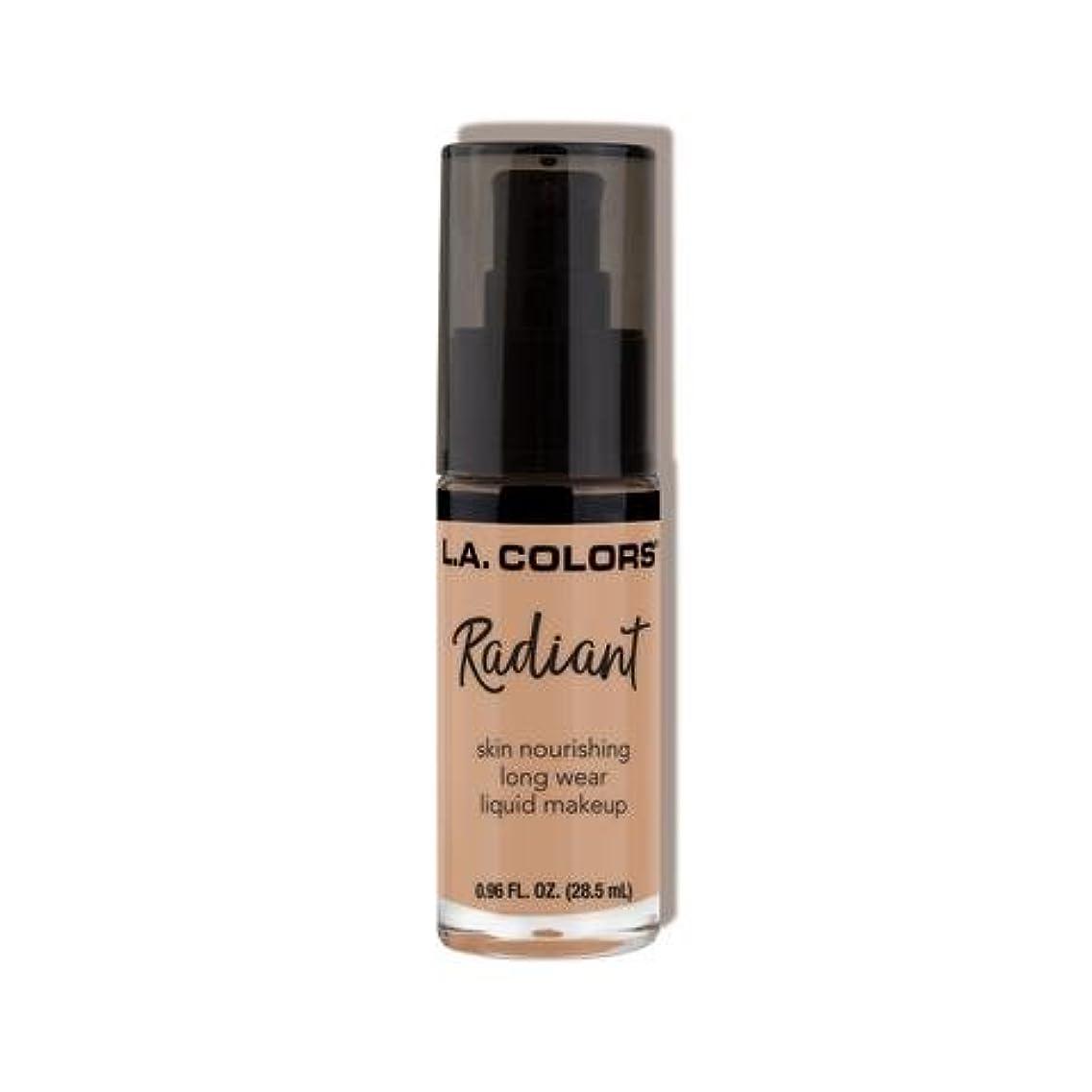 スタジアム緑しがみつく(6 Pack) L.A. COLORS Radiant Liquid Makeup - Medium Tan (並行輸入品)