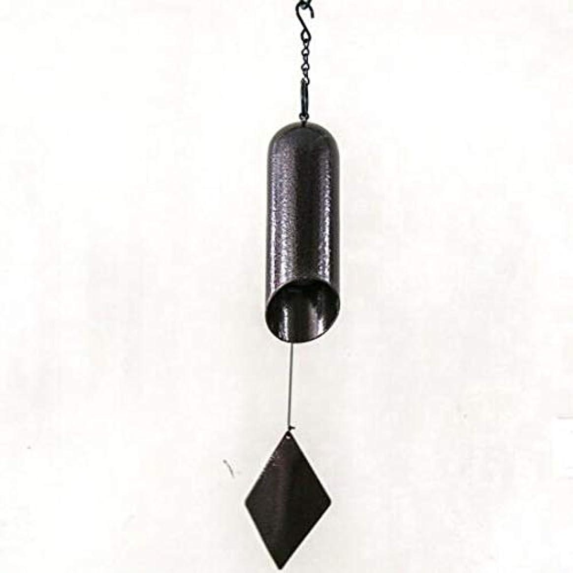 ドラムサラダエンコミウム風チャイム、手作り円筒鋳鉄シングルチューブ真鍮時計、オリジナルデザインの飾り、ダークブラウン (Size : 62cm)