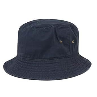 (ニューハッタン) NEWHATTAN / CLASSIC BUCKET HAT クラシックバケットハット (S/M(58cm~59cm), NAVY)