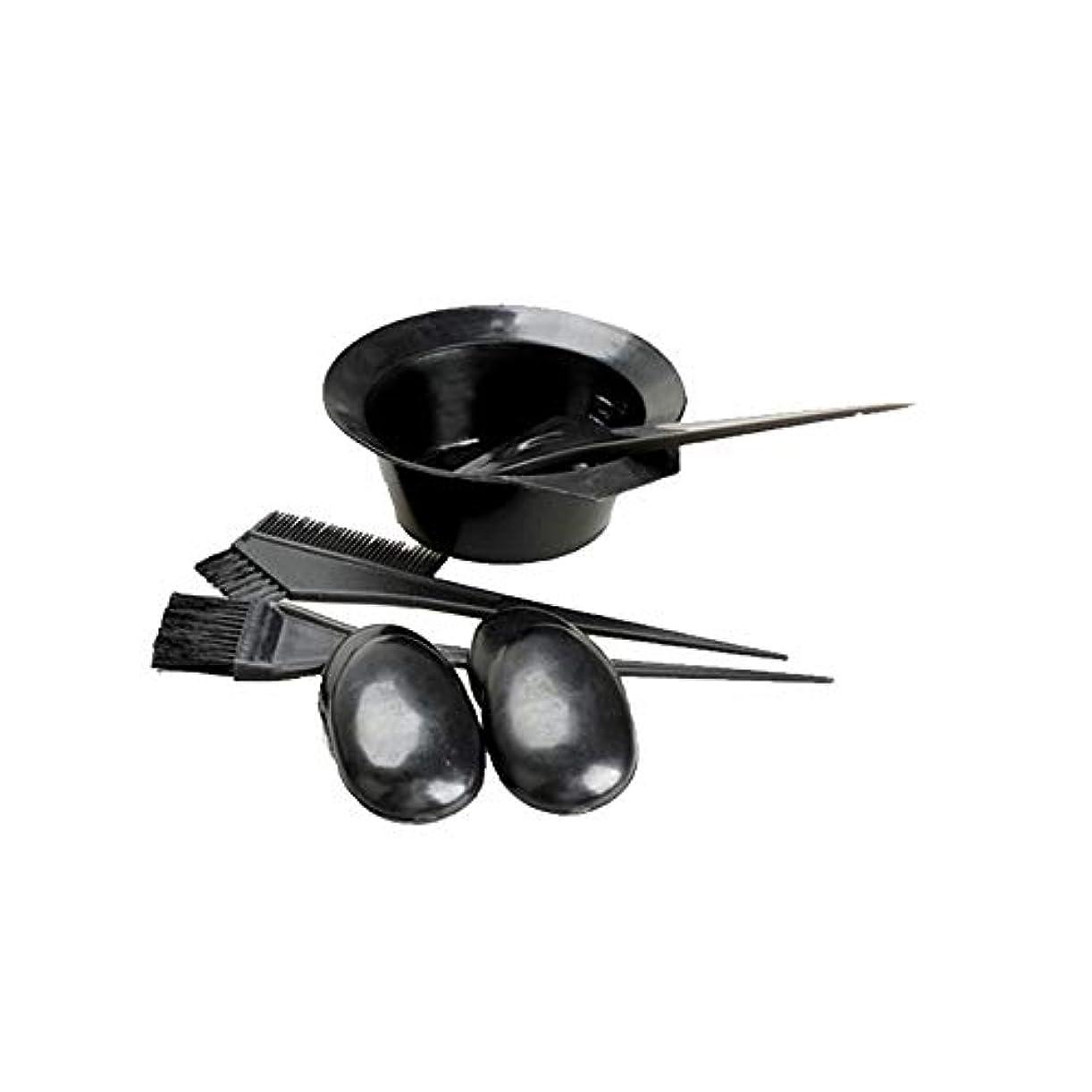 ブローホールジョグ州黒い髪の染料の色のトーンイットユアセルフツールキットセットの美容院の皿洗いの組み合わせを設定する5 /設定染毛剤キット