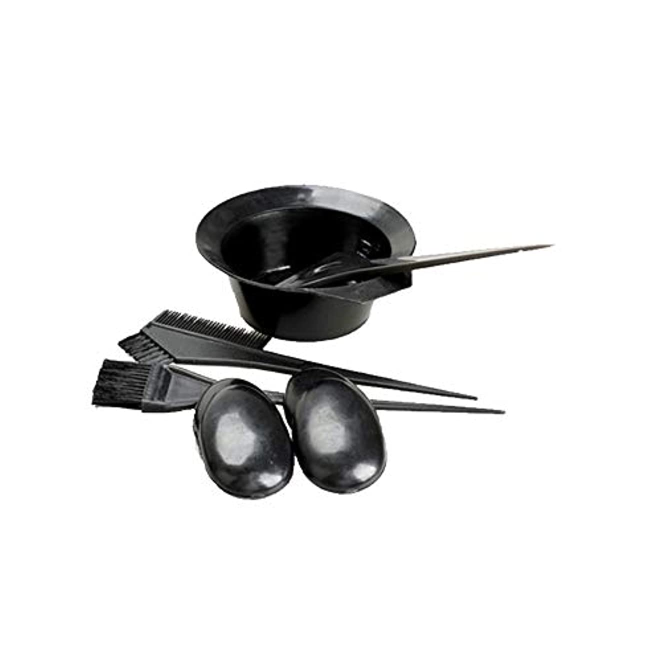 愛情ハリウッド記念日黒い髪の染料の色のトーンイットユアセルフツールキットセットの美容院の皿洗いの組み合わせを設定する5 /設定染毛剤キット