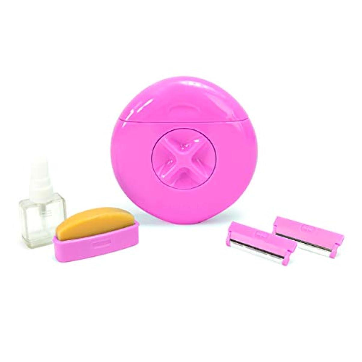 たらい好きである脱獄Sphynx 詰め替え可能なブレード&シェーブバーがすべて1人の旅行やポータブル女性のかみそり ピンク
