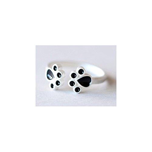 [比翼堂] レディース リング & ピアス 「 猫の手 」 サージカル ステンレス 最高級フランネルケース付き ギフトラッピング (リング)