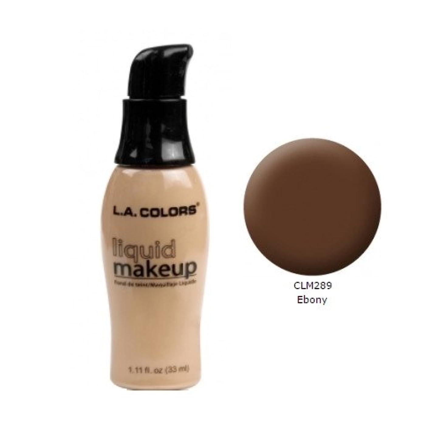 バスルームイサカ失業者(6 Pack) LA COLORS Liquid Makeup - Ebony (並行輸入品)