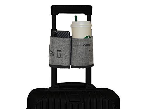 [riemot] ボトルホルダー スーツケース用 カップホルダー ドリンクホルダー 小物入れ 旅行/出張用 グレー