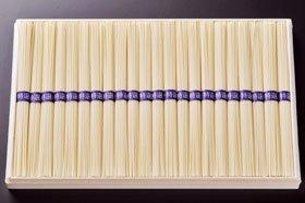 完全手づくり!宣教師ド・ロ神父が伝授した幻の素麺 ド・ロさまそうめん 木箱一列 1kg (50g×20束) (DS-30)
