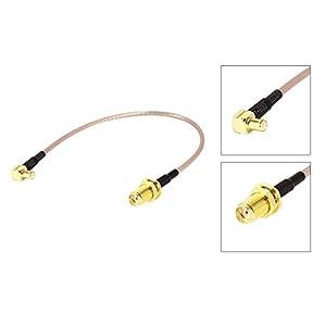 SODIAL(R)MCXオスがSMAメスRG316への低損失ピッグテールアダプターケーブル21センチメートル/8.3インチ