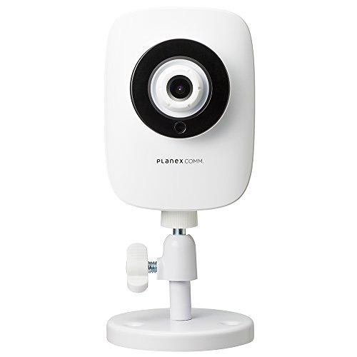 PLANEX ネットワークカメラ スマカメナイトビジョン Google Home/Amazon Alexa対応 暗視機能・マイク内蔵・モバイルルーター対応・合法カメラ CS-QR20