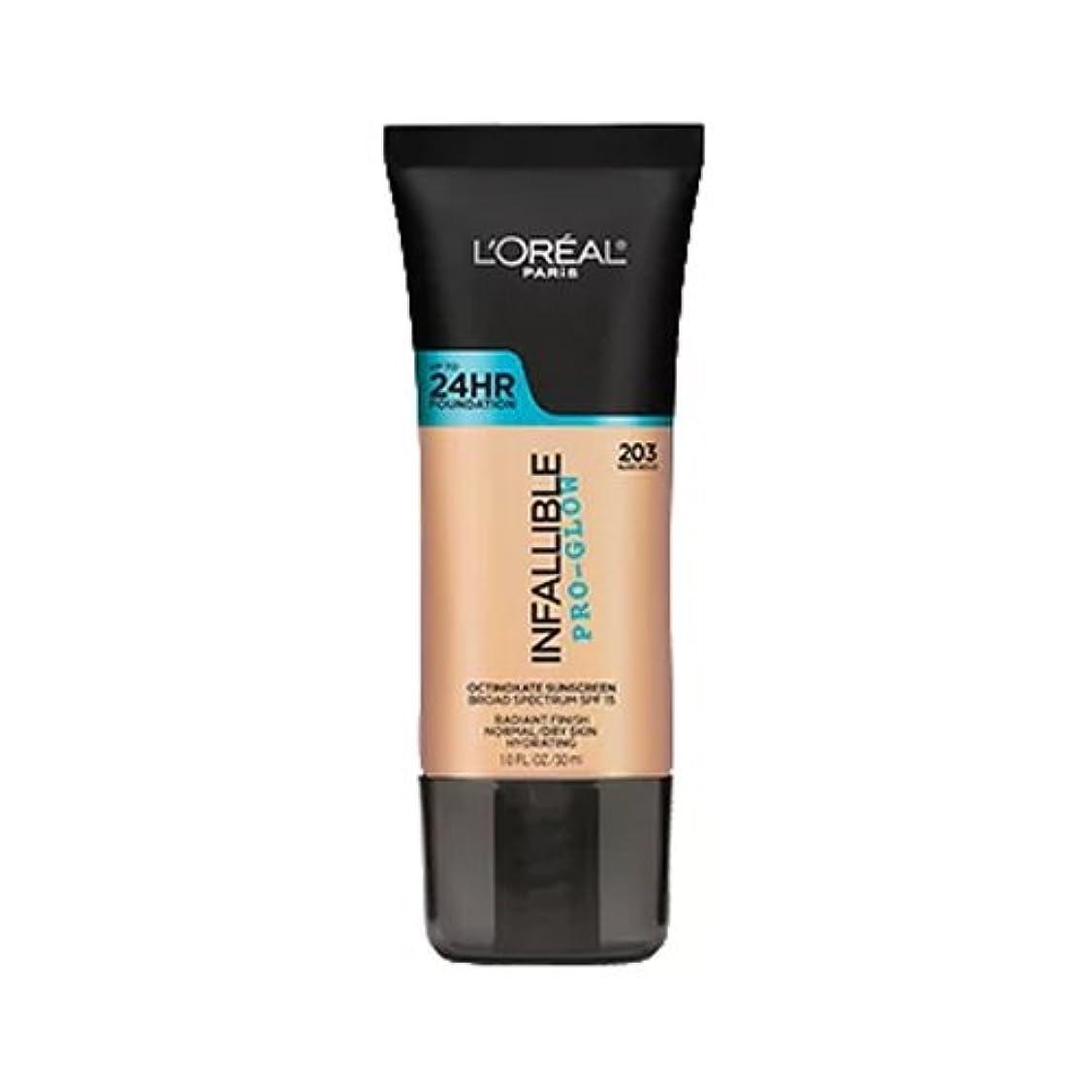 湖くしゃみ電話(3 Pack) L'OREAL Infallible Pro-Glow Foundation - Nude Beige (並行輸入品)