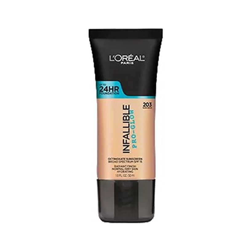 失業ディレイ再生的(3 Pack) L'OREAL Infallible Pro-Glow Foundation - Nude Beige (並行輸入品)