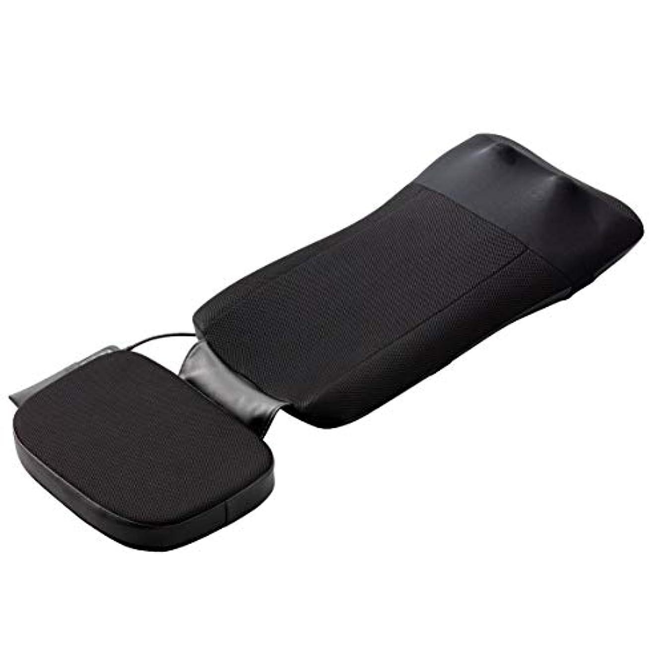 横たわるパンフレットミリメートルスライヴ マッサージシート 【寝て使用可能】ストレッチコース付き ブラック MD-8670 BK