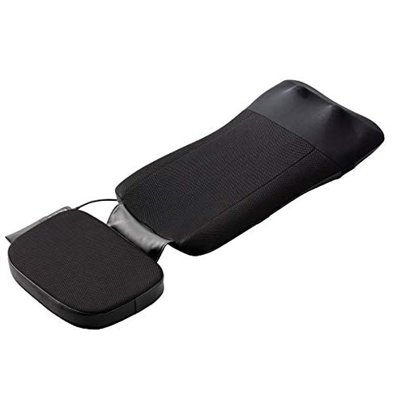 必要とする繊維返還スライヴ マッサージシート 【寝て使用可能】ストレッチコース付き ブラック MD-8670 BK