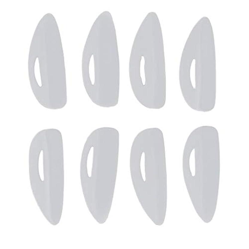 カール冊子甲虫4ペア ビューティー 付けまつげ シリコーン まつげパッド リフトシールド