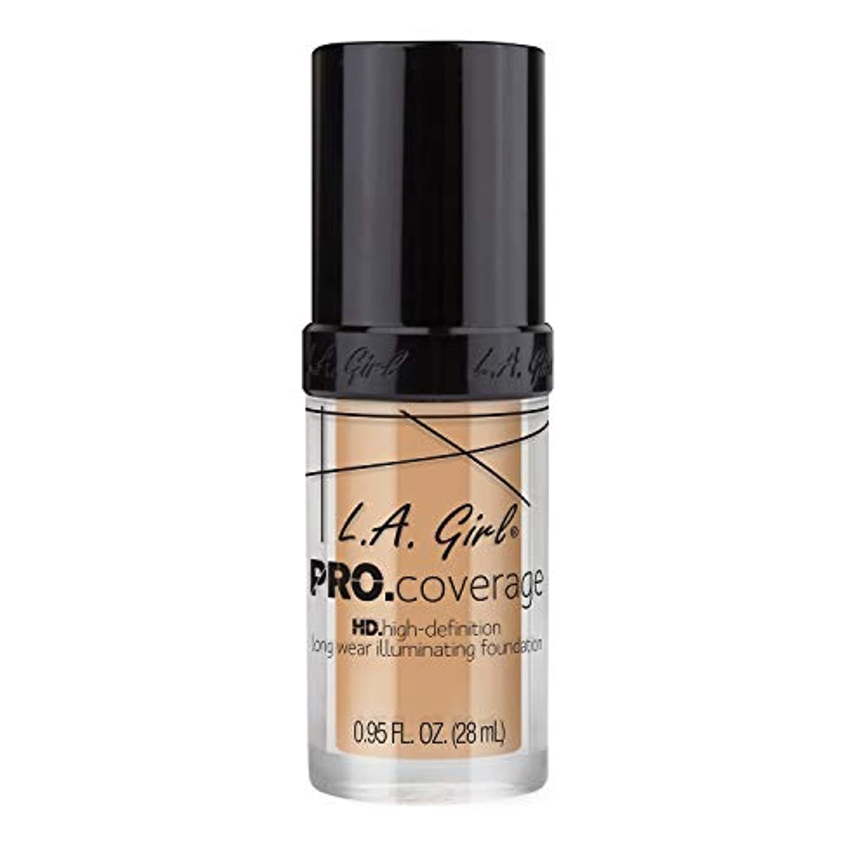 ビン予算保守的海外直送品 L.A. Girl Pro Coverage Liquid Foundation 28ml, Natural
