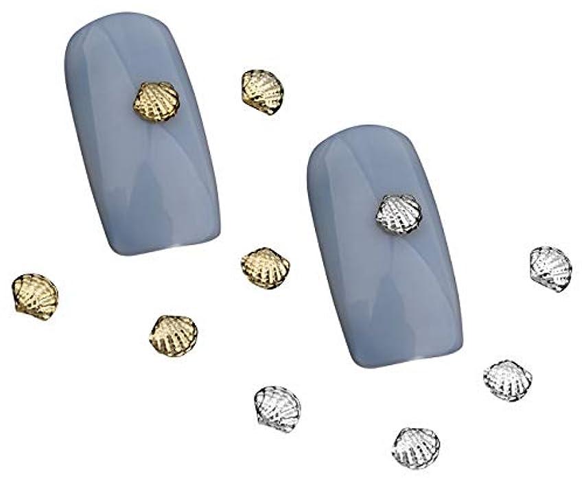 多年生ブルーベル団結Tianmey シェル3Dゴールドシルバー合金ネイルズアートラインストーンの装飾チャームジュエリーネイルツール