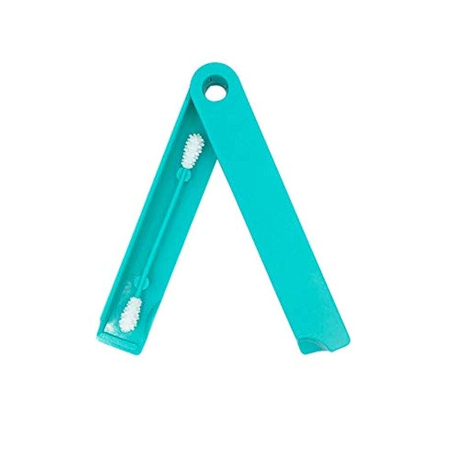 ぐるぐる降ろすとまり木ACHICOO 1 Pcの再使用可能なシリコーン綿棒の女性の化粧用綿棒の先端 青