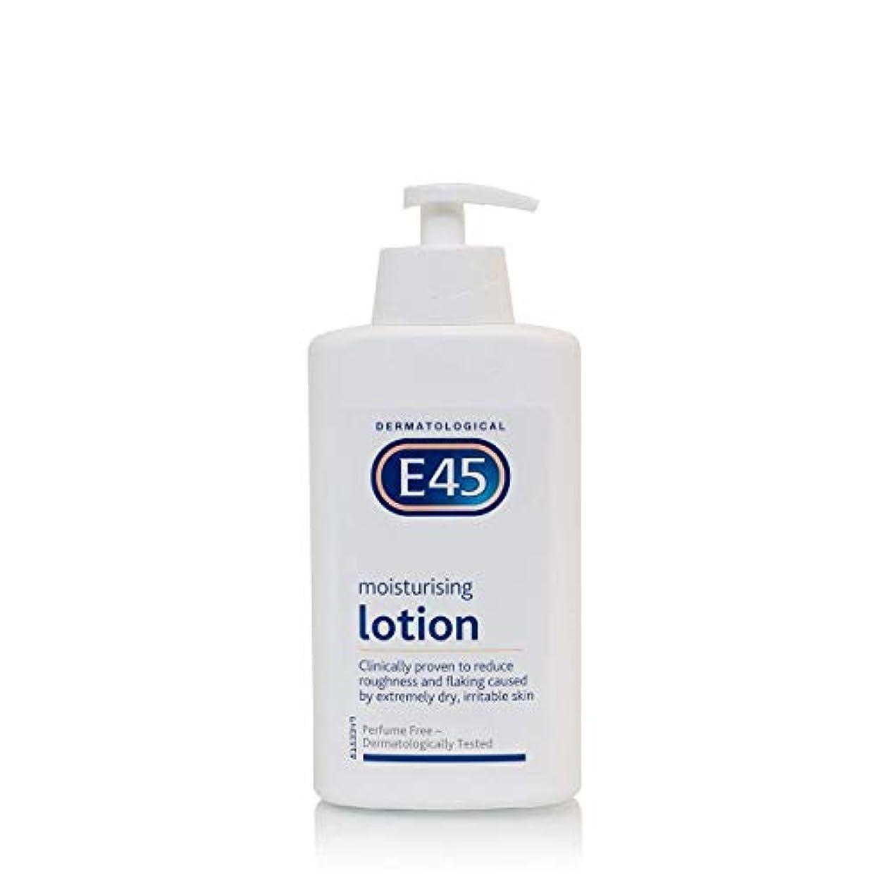 パパ安価な拍手E45 Dermatological Moisturising Lotion (500ml) E45皮膚科保湿ローション( 500ミリリットル)