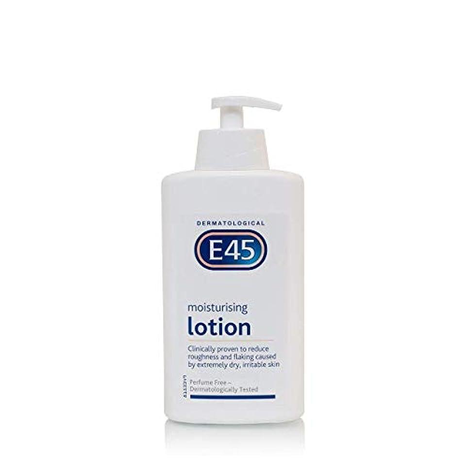 キャリア若さ傑出したE45 Dermatological Moisturising Lotion (500ml) E45皮膚科保湿ローション( 500ミリリットル)