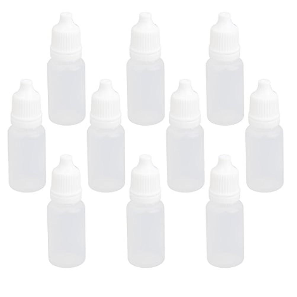 広範囲にウミウシ事前に【ノーブランド品】ドロッパーボトル 点眼 液体 貯蔵用 滴瓶 プラスチック製 10個 (10ml)