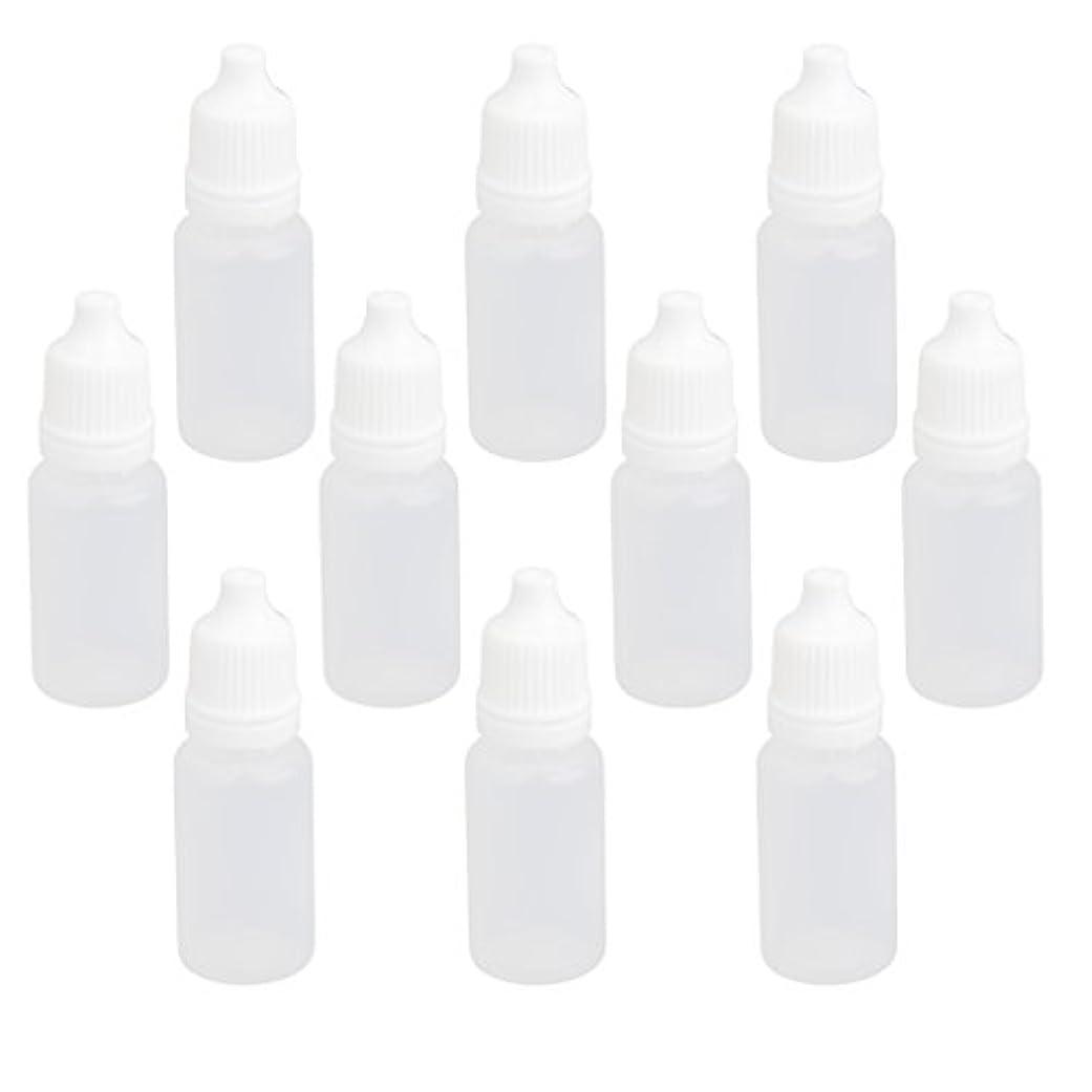 転送ピストル提唱する【ノーブランド品】ドロッパーボトル 点眼 液体 貯蔵用 滴瓶 プラスチック製 10個 (10ml)