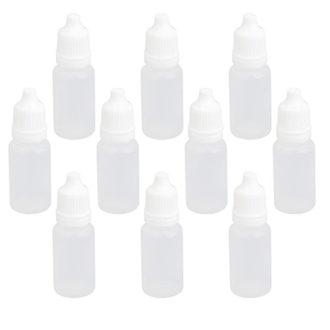 葬儀裁判官スキル【ノーブランド品】ドロッパーボトル 点眼 液体 貯蔵用 滴瓶 プラスチック製 10個 (10ml)