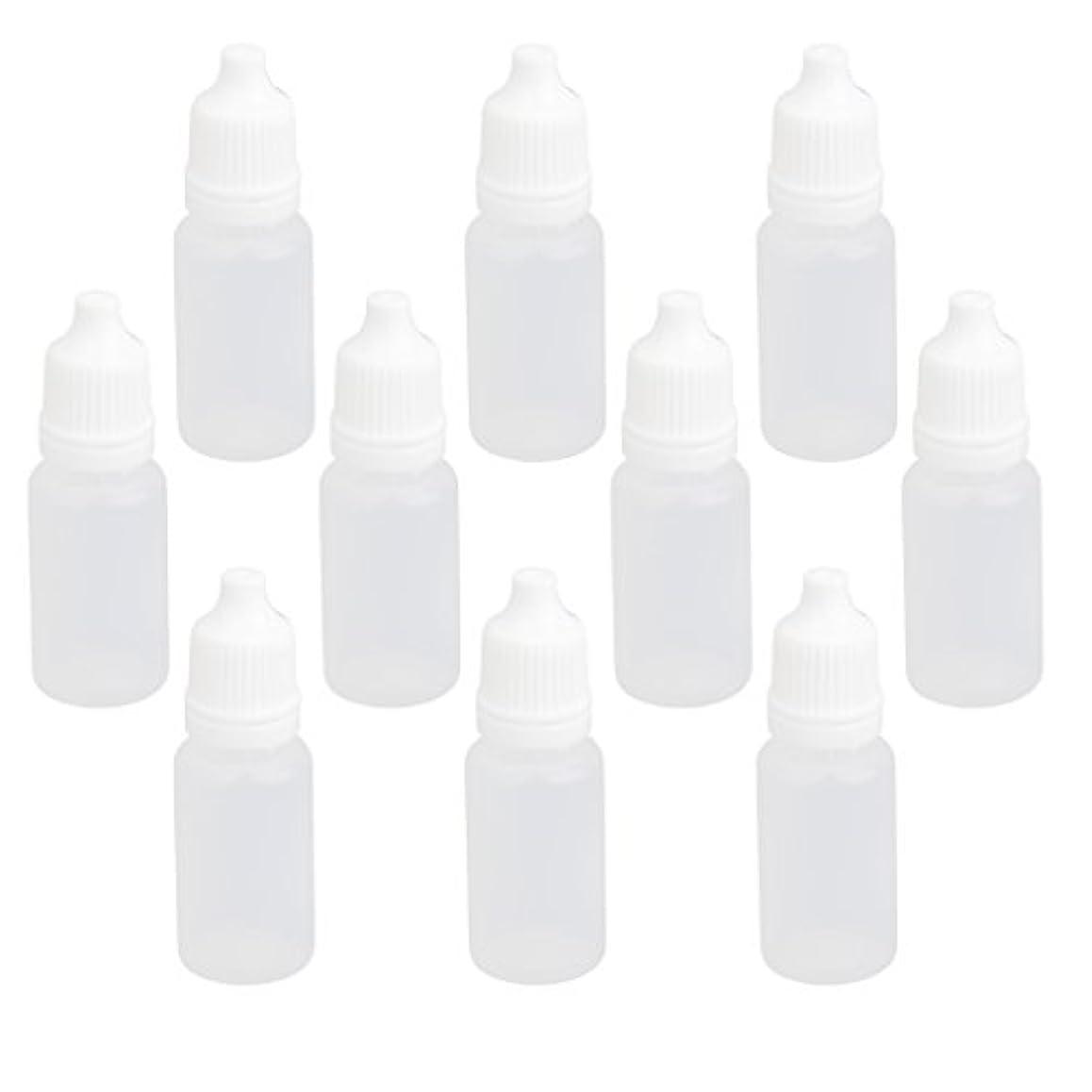 カートン追い付くモード【ノーブランド品】ドロッパーボトル 点眼 液体 貯蔵用 滴瓶 プラスチック製 10個 (10ml)