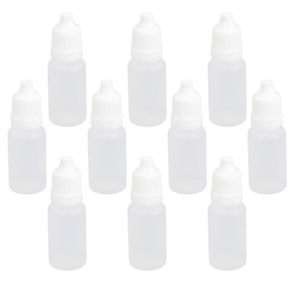 登録するラビリンス露出度の高い【ノーブランド品】ドロッパーボトル 点眼 液体 貯蔵用 滴瓶 プラスチック製 10個 (10ml)