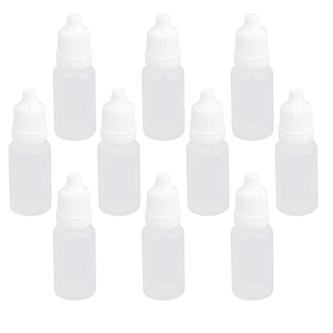 想起高揚したまたは【ノーブランド品】ドロッパーボトル 点眼 液体 貯蔵用 滴瓶 プラスチック製 10個 (10ml)