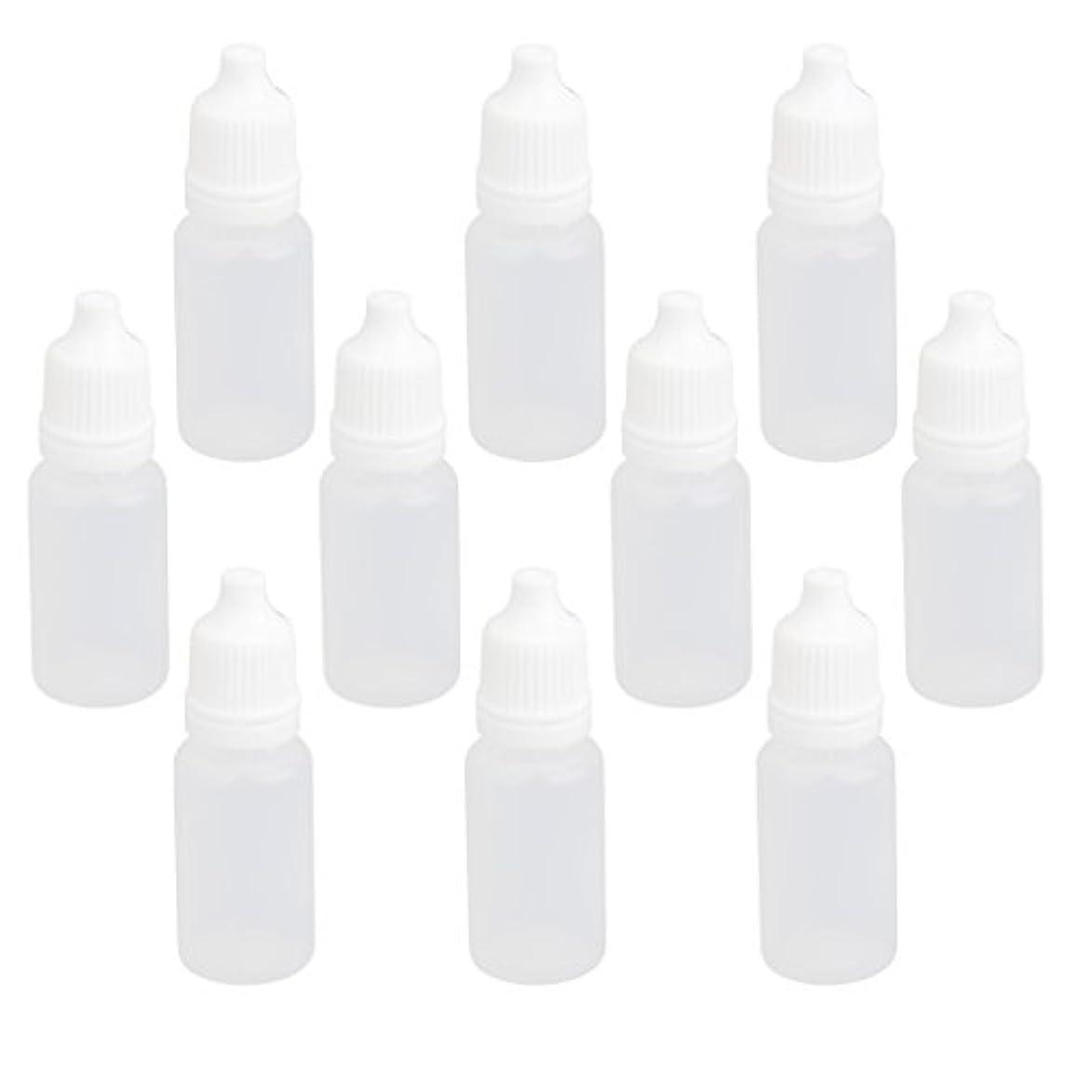 【ノーブランド品】ドロッパーボトル 点眼 液体 貯蔵用 滴瓶 プラスチック製 10個 (10ml)