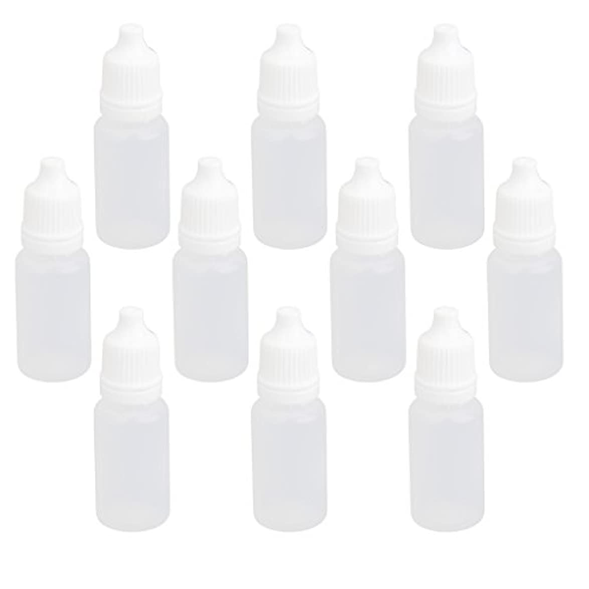 契約アウトドア保有者【ノーブランド品】ドロッパーボトル 点眼 液体 貯蔵用 滴瓶 プラスチック製 10個 (10ml)