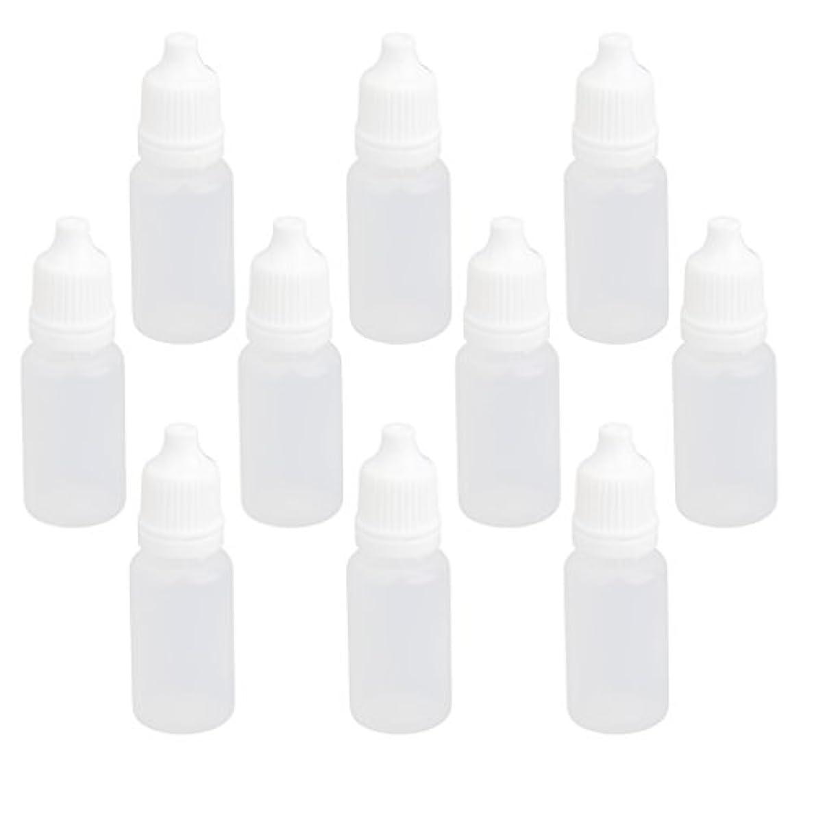 ジャズきゅうりアクセサリー【ノーブランド品】ドロッパーボトル 点眼 液体 貯蔵用 滴瓶 プラスチック製 10個 (10ml)