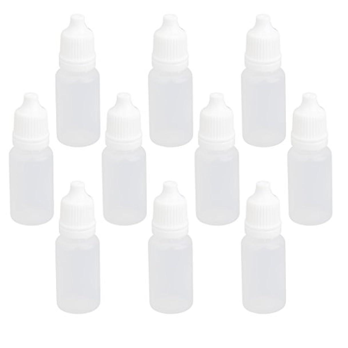 最近花輪熱帯の【ノーブランド品】ドロッパーボトル 点眼 液体 貯蔵用 滴瓶 プラスチック製 10個 (10ml)