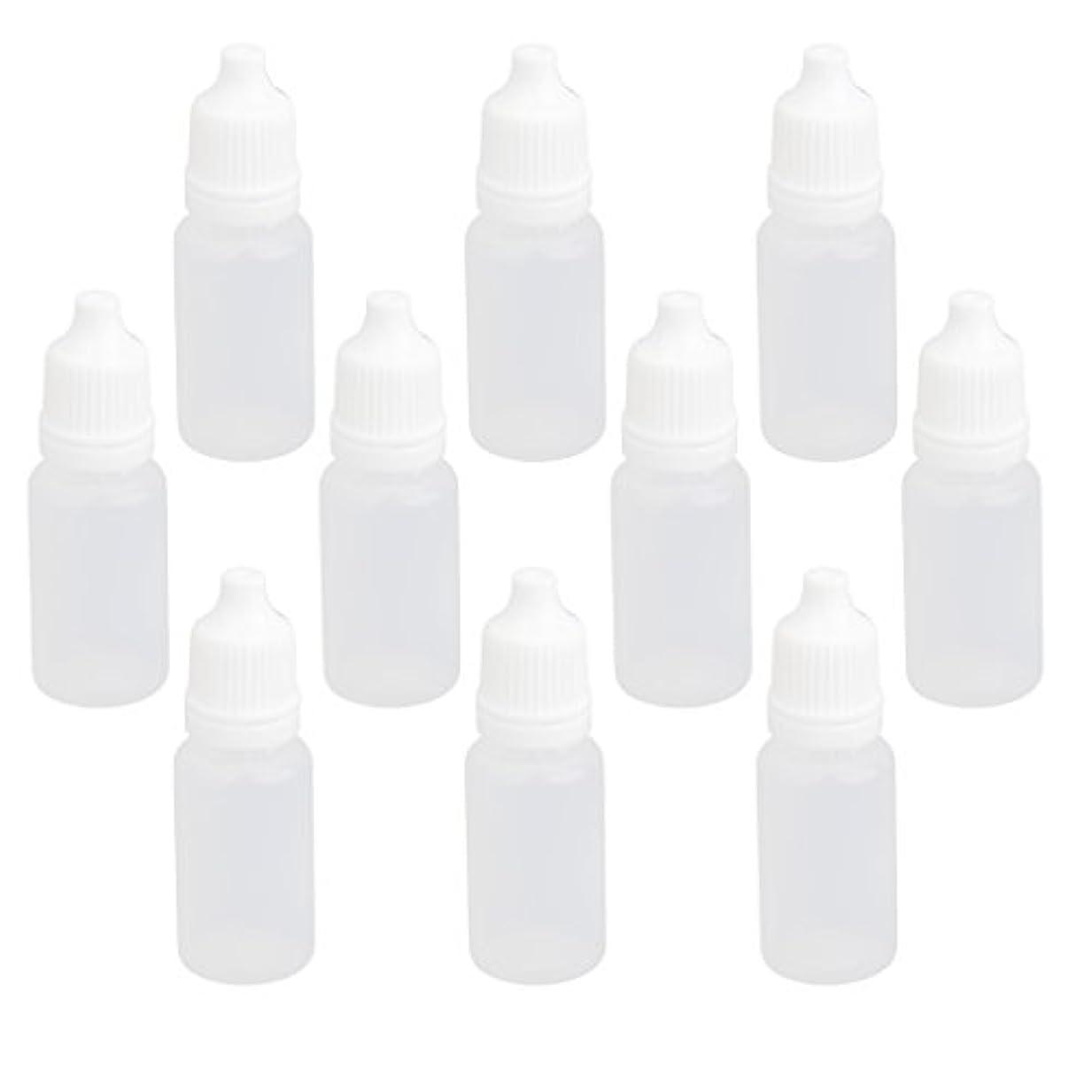 リラックスアドバンテージ日焼け【ノーブランド品】ドロッパーボトル 点眼 液体 貯蔵用 滴瓶 プラスチック製 10個 (10ml)