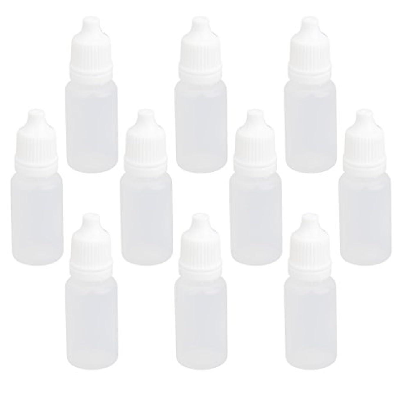 占める行商退屈【ノーブランド品】ドロッパーボトル 点眼 液体 貯蔵用 滴瓶 プラスチック製 10個 (10ml)
