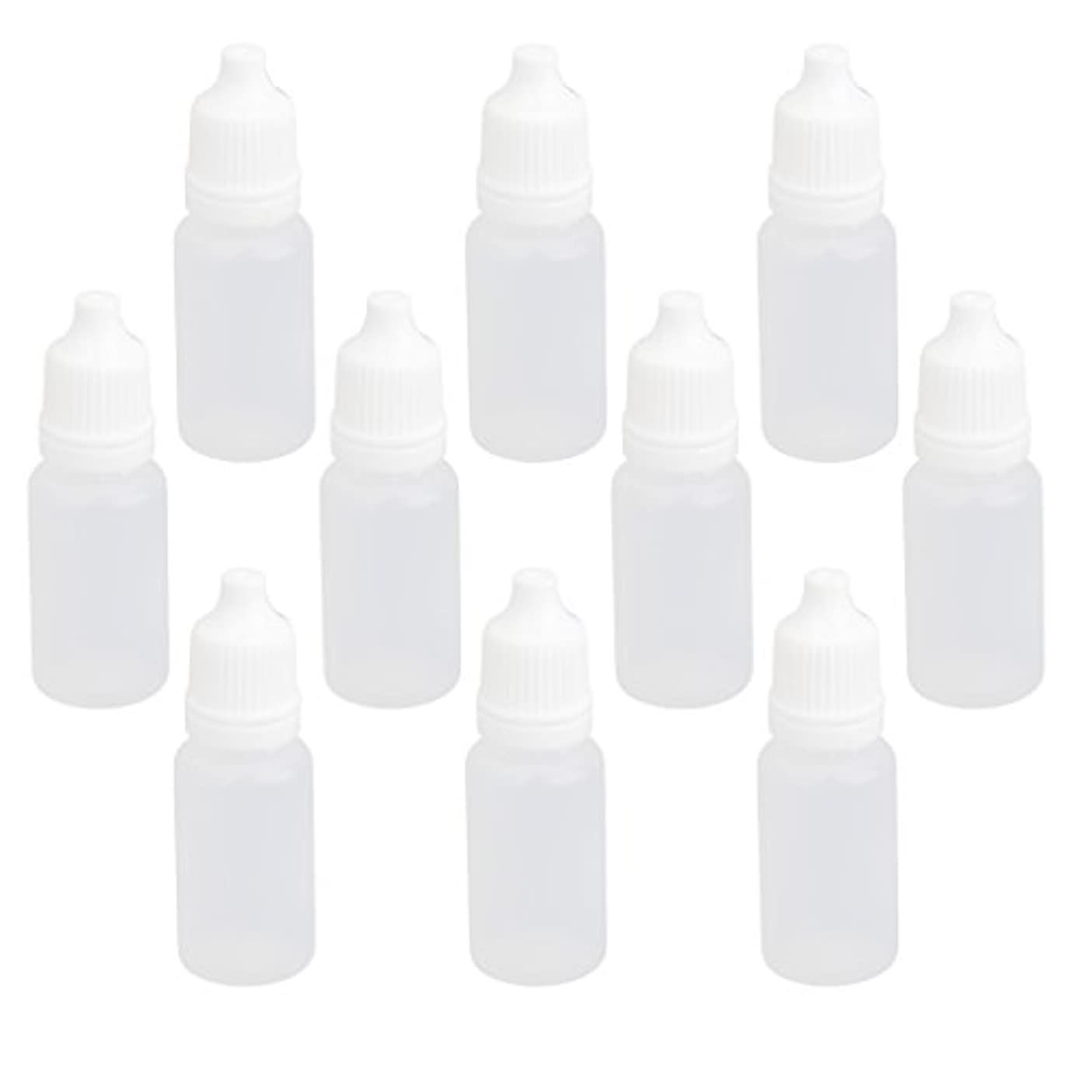 ウェイトレスアジャフットボール【ノーブランド品】ドロッパーボトル 点眼 液体 貯蔵用 滴瓶 プラスチック製 10個 (10ml)